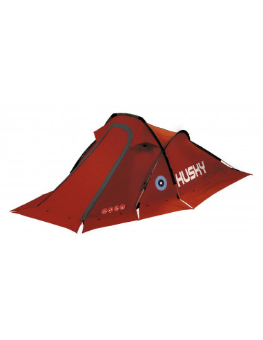 Tente Husky Flame 2 personnes - Tente 4 saisons coloris rouge