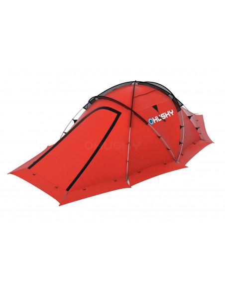 Tente HUSKY FIGTHER 3-4 personnes - Tente 4 Saisons-Coloris Rouge