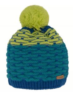 Bonnet Relax Loop bleu et vert