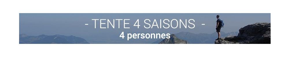 Tente 4 Saisons 4 Personnes - S'adapte aux conditions extrêmes
